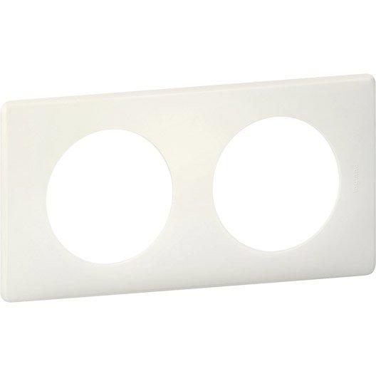 plaque double c liane legrand craie leroy merlin. Black Bedroom Furniture Sets. Home Design Ideas