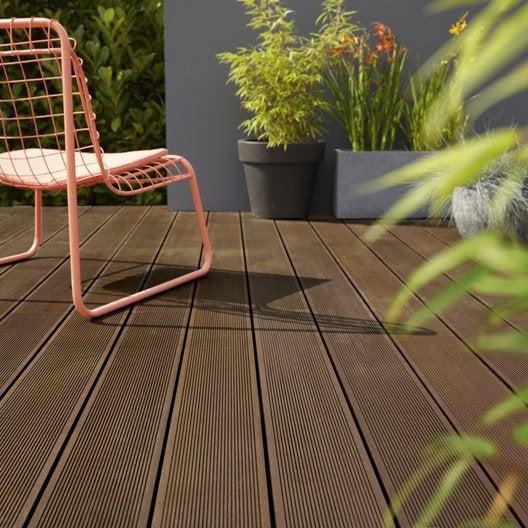 dalle et lame bois pour terrasse et jardin terrasse et sol ext rieur leroy merlin. Black Bedroom Furniture Sets. Home Design Ideas