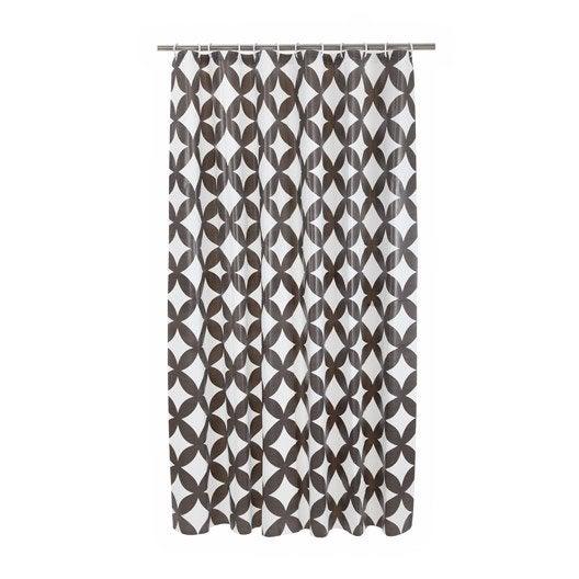 rideau de douche en plastique gris zingu n 1 x cm boheme sensea leroy merlin. Black Bedroom Furniture Sets. Home Design Ideas