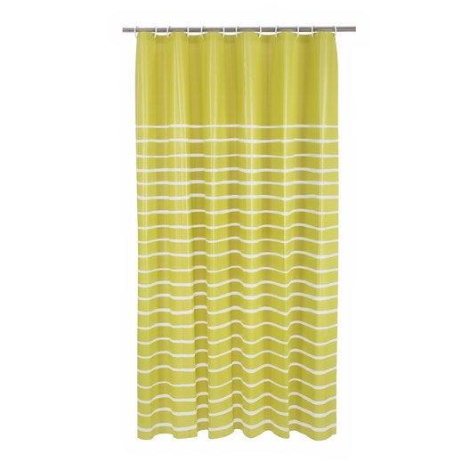 rideau de douche en plastique x cm vert botanique n 3 zephyr sensea leroy merlin. Black Bedroom Furniture Sets. Home Design Ideas