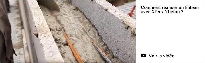 Comment réaliser un linteau avec 3 fers