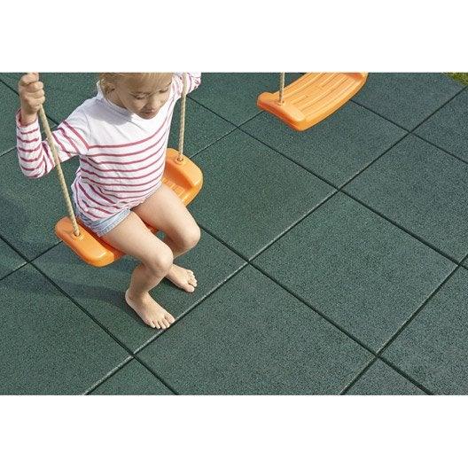 dalle de s curit amortissante caoutchouc portique maisonnette trampoline et. Black Bedroom Furniture Sets. Home Design Ideas