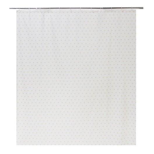 rideau de douche en plastique transparent x cm nippon sensea leroy merlin. Black Bedroom Furniture Sets. Home Design Ideas