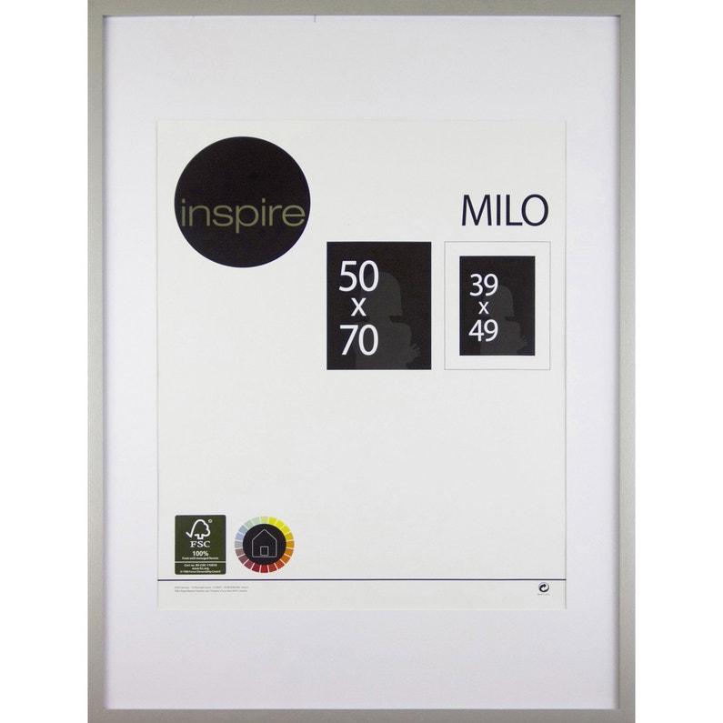 Cadre Milo 50 X 70 Cm Argent