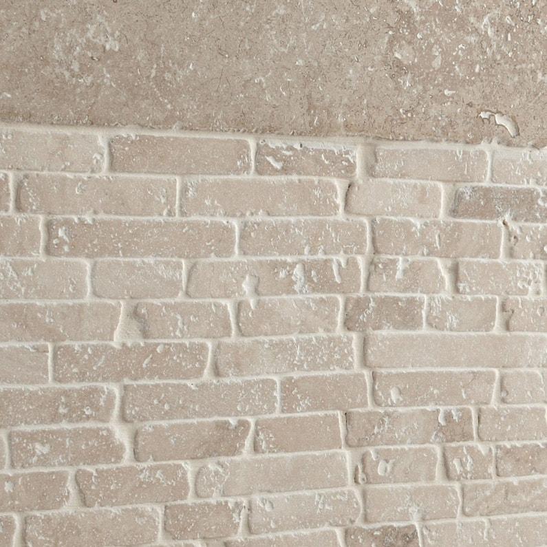 Mosaïque sol et mur Mineral travertin ivoire | Leroy Merlin
