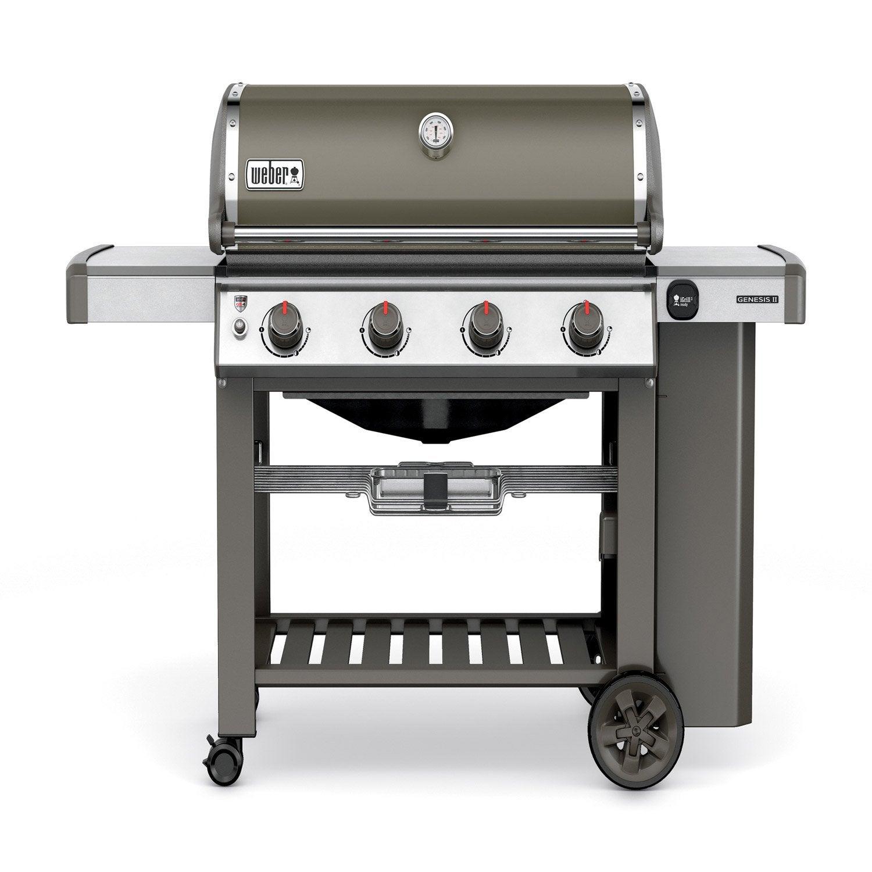 barbecue au gaz weber genesis 2 e 410 gbs gris leroy merlin. Black Bedroom Furniture Sets. Home Design Ideas