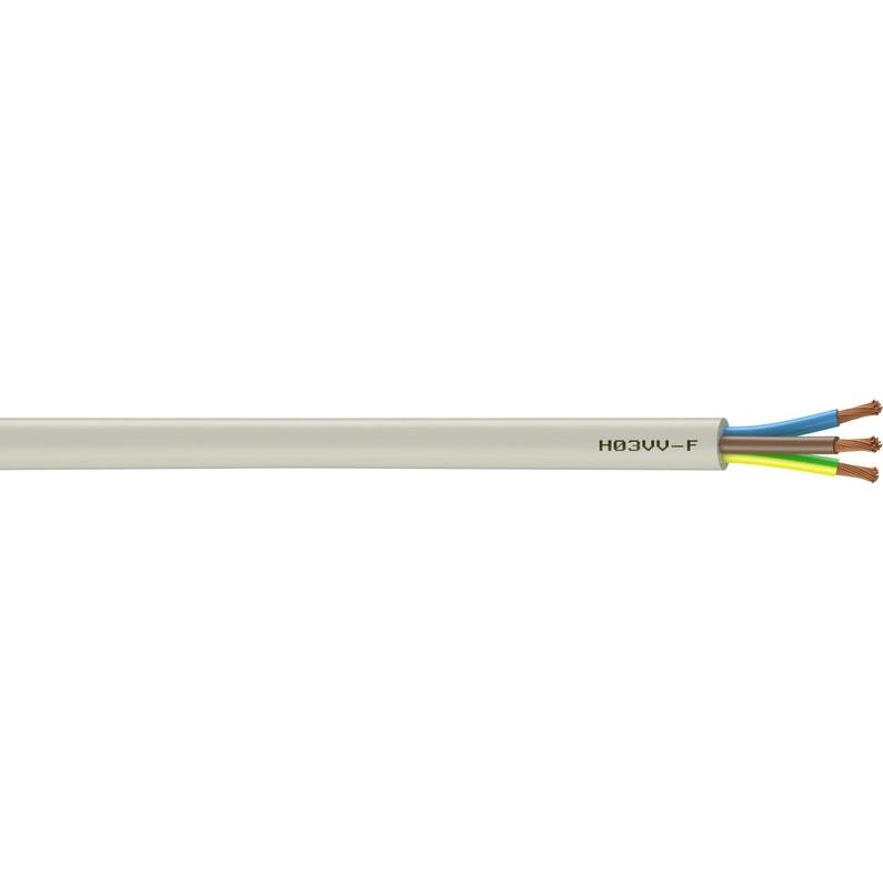 Câble électrique H03vvf Blanc L 10 M 0 75 Mm Leroy Merlin