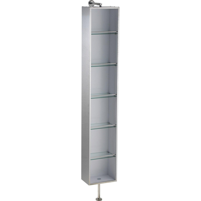 armoire de toilette imitation m tal cm urban leroy merlin. Black Bedroom Furniture Sets. Home Design Ideas
