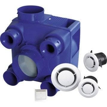 Kit VMC simple flux auto-réglable à détection d'humidité EQUATION