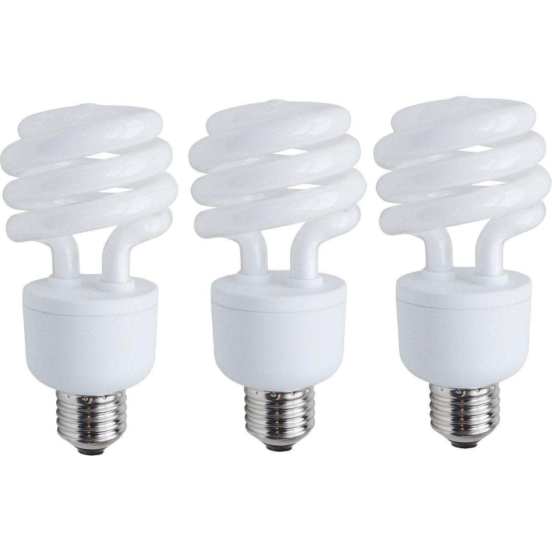 3 ampoules spirales fluorescentes 23w 1398lm equiv 100w e27 6500k lexman 5 Superbe Economie Ampoule Led Zat3