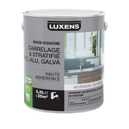 Sous couche carrelage stratifi pvc aluminium galva luxens 2 5 l leroy merlin for Sous couche peinture carrelage orleans