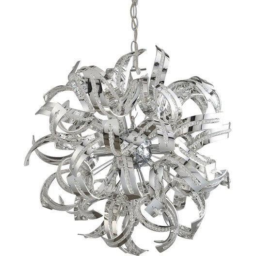Free suspension moderne ruban m tal chrom x w sampa lustre new york leroy merlin with leroy merlin lustre