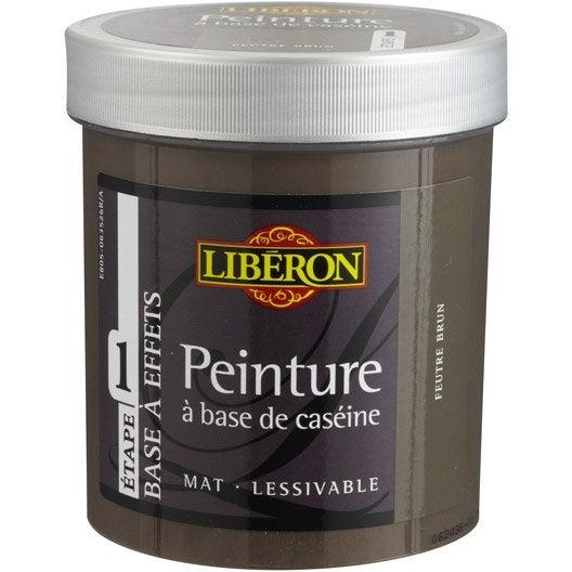 Peinture effet base cas ine liberon feutre brun 0 5 l - Peinture liberon caseine ...