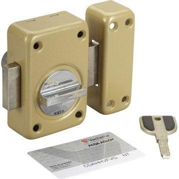 Verrou bouton / cylindre, 45 mm, VACHETTE radial nt