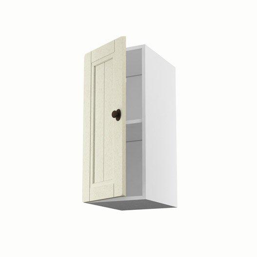 Meuble de cuisine haut beige 1 porte tradition x for Porte 70 cm largeur