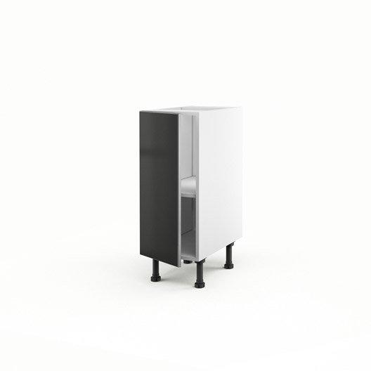 meuble de cuisine bas gris 1 porte frost x x cm leroy merlin. Black Bedroom Furniture Sets. Home Design Ideas