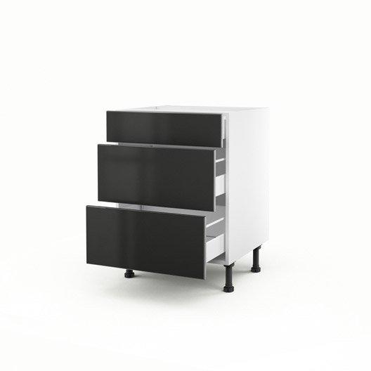 perfect meuble de cuisine bas gris tiroirs frost x x p for meuble bas cuisine largeur cm with. Black Bedroom Furniture Sets. Home Design Ideas