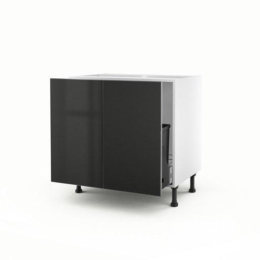 meuble de cuisine sous vier gris 2 portes frost x l. Black Bedroom Furniture Sets. Home Design Ideas