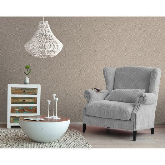 papier peint intiss rosace cuivre leroy merlin. Black Bedroom Furniture Sets. Home Design Ideas
