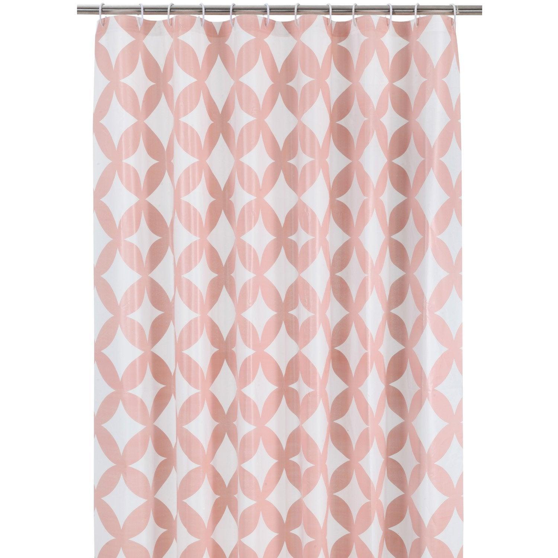 Rideau de douche en plastique rose blush n 5 x - Rideau boheme ...