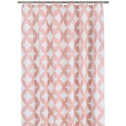 Rideau de douche en plastique x cm rose blush for Rideau en plastique exterieur