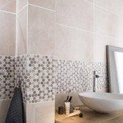 Faïence mur beige, Modena l.31.6 x L.63.2 cm