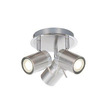 Plafonnier 3 spots Mizil, LED 3 x 4.5 W, GU10 blanc chaud