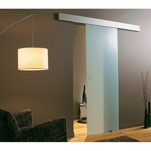 rail coulissant et habillage twistal pour 2 portes pour porte de largeur 2x73cm leroy merlin. Black Bedroom Furniture Sets. Home Design Ideas