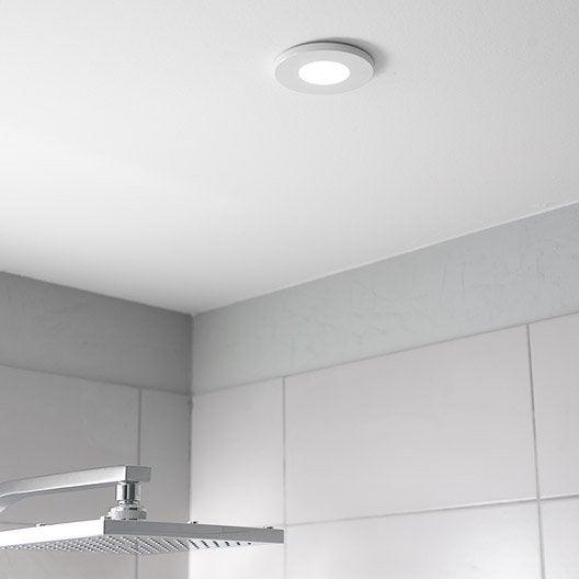 kit 1 spot encastrer salle de bains kilia fixe halog ne inspire gu5 3 blanc leroy merlin. Black Bedroom Furniture Sets. Home Design Ideas