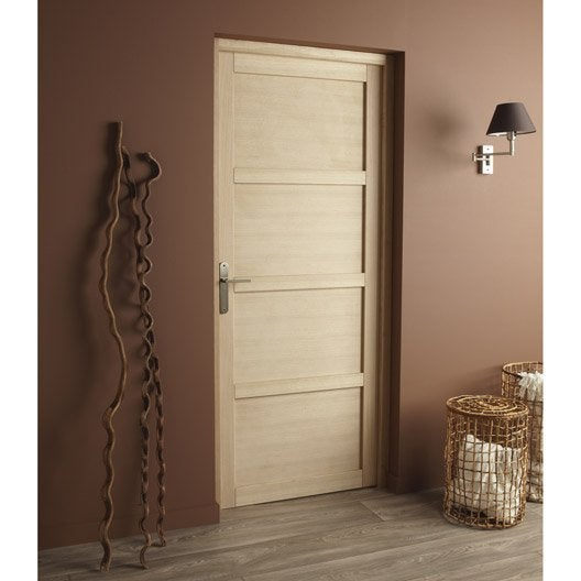bloc porte ch ne plaqu paris artens x cm. Black Bedroom Furniture Sets. Home Design Ideas