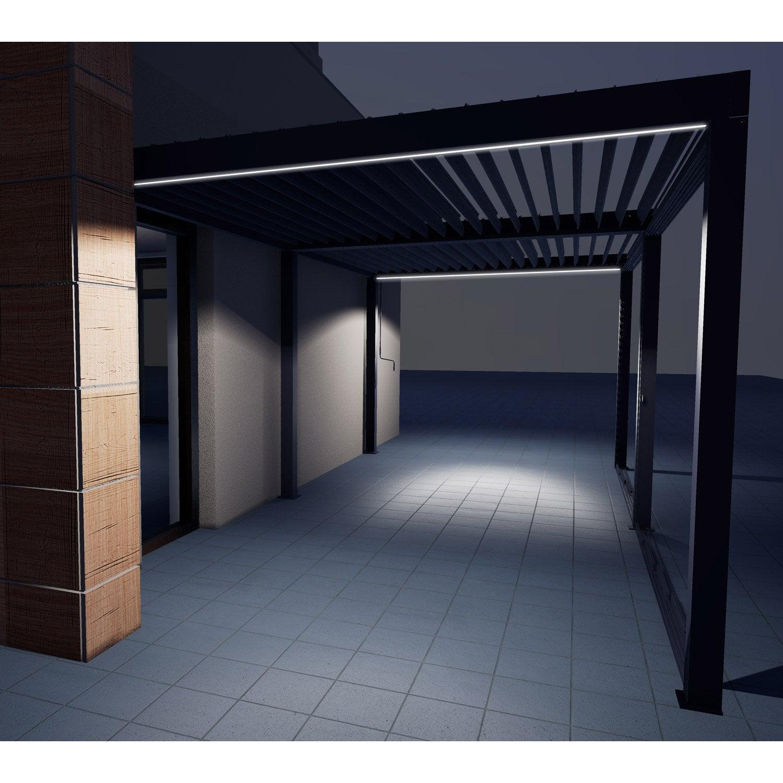 eclairage pergola pour tonnelle autoportante orient 6m aluminium leroy merlin. Black Bedroom Furniture Sets. Home Design Ideas