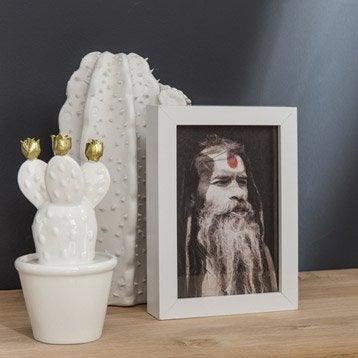Cadre Milo, 21 x 29.7 cm, blanc-blanc n°0