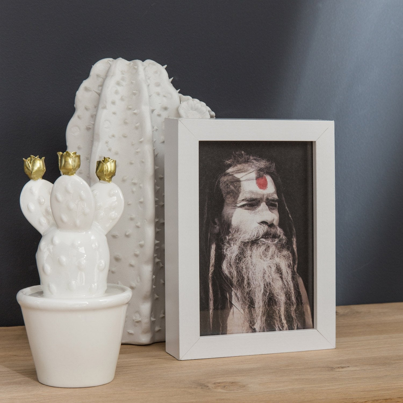 Cadre Milo, 13 x 18 cm, blanc