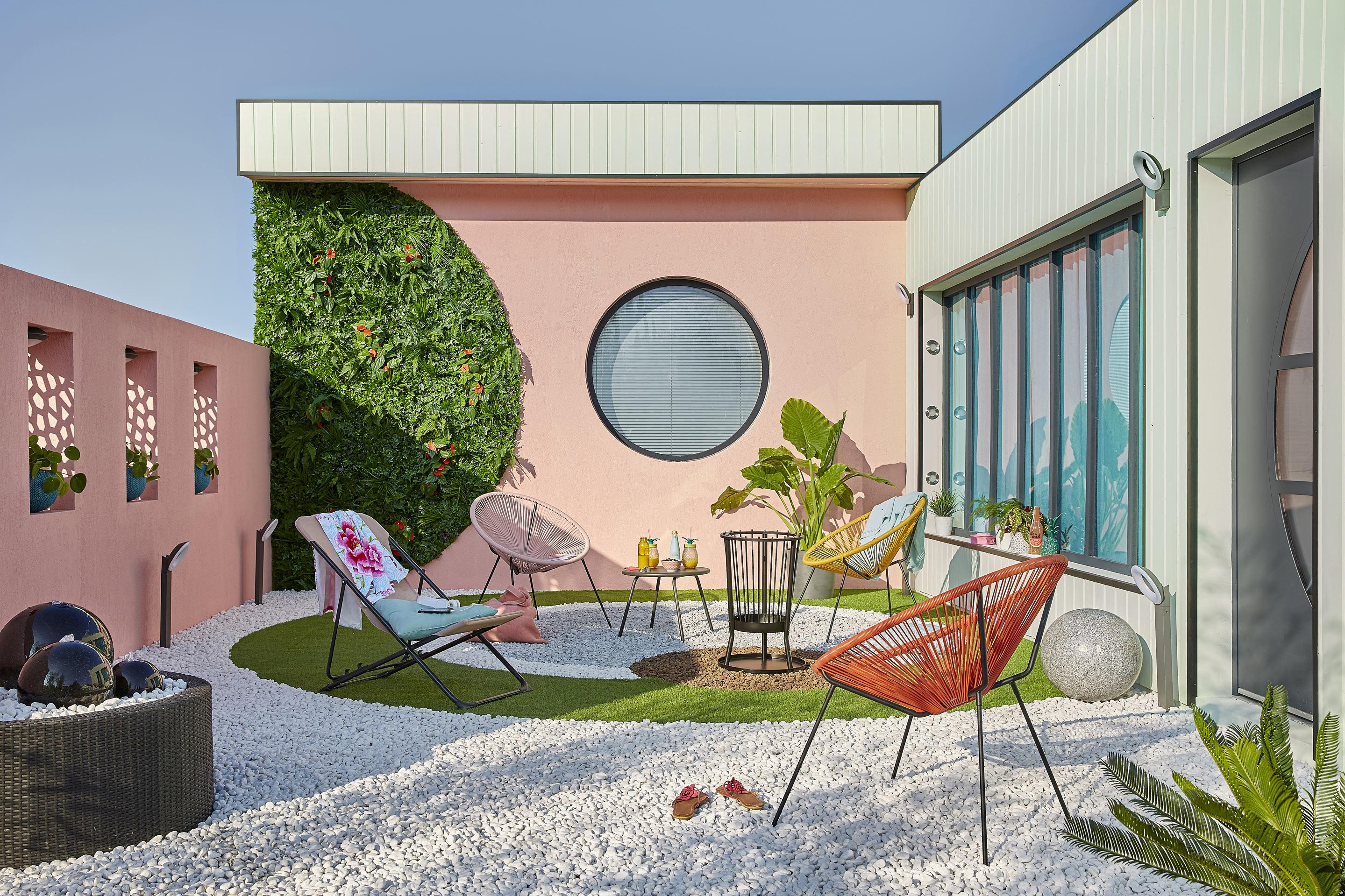 Fauteuil de jardin en polyéthylène acapulco terracotta leroy merlin