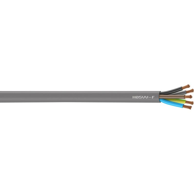 Câble électrique 5 G 25 Mm² Ho5vvf L10 M Gris