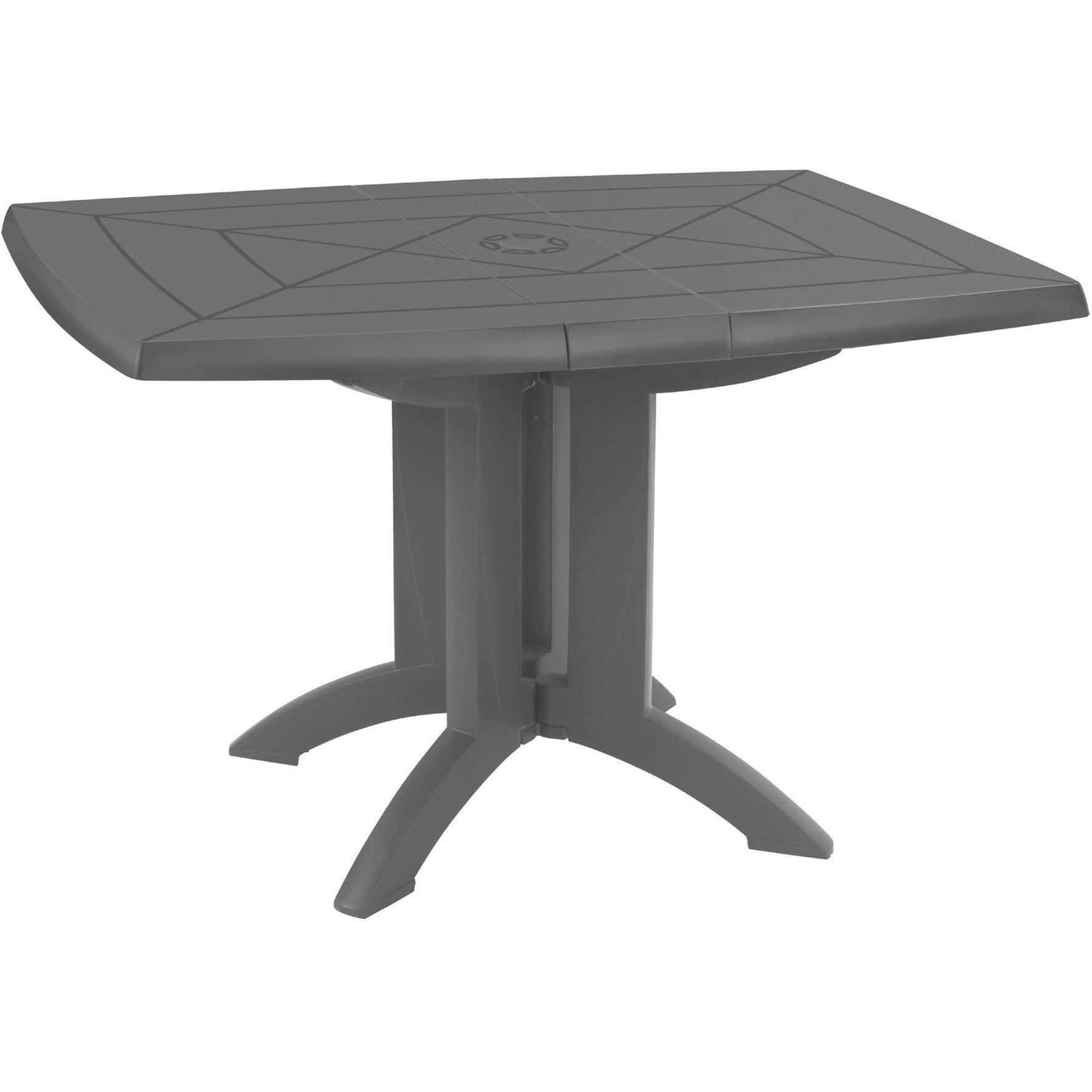 repas Table 4 de Véga jardin GROSFILLEX personnes rectangulaire de anthracite xEBeroQWdC