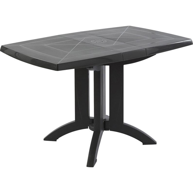 Table de jardin de repas GROSFILLEX Véga rectangulaire anthracite 4  personnes