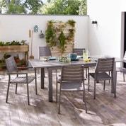 Salon de jardin Antibes NATERIAL gris, 6 personnes | Leroy ...
