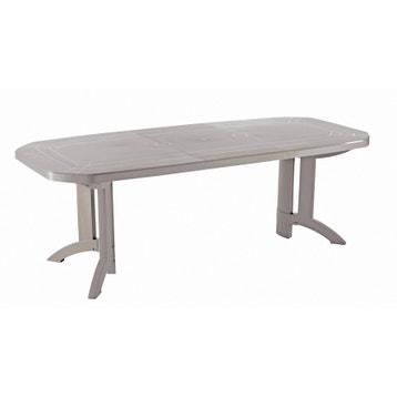 Table de jardin aluminium, bois, résine au meilleur prix ...