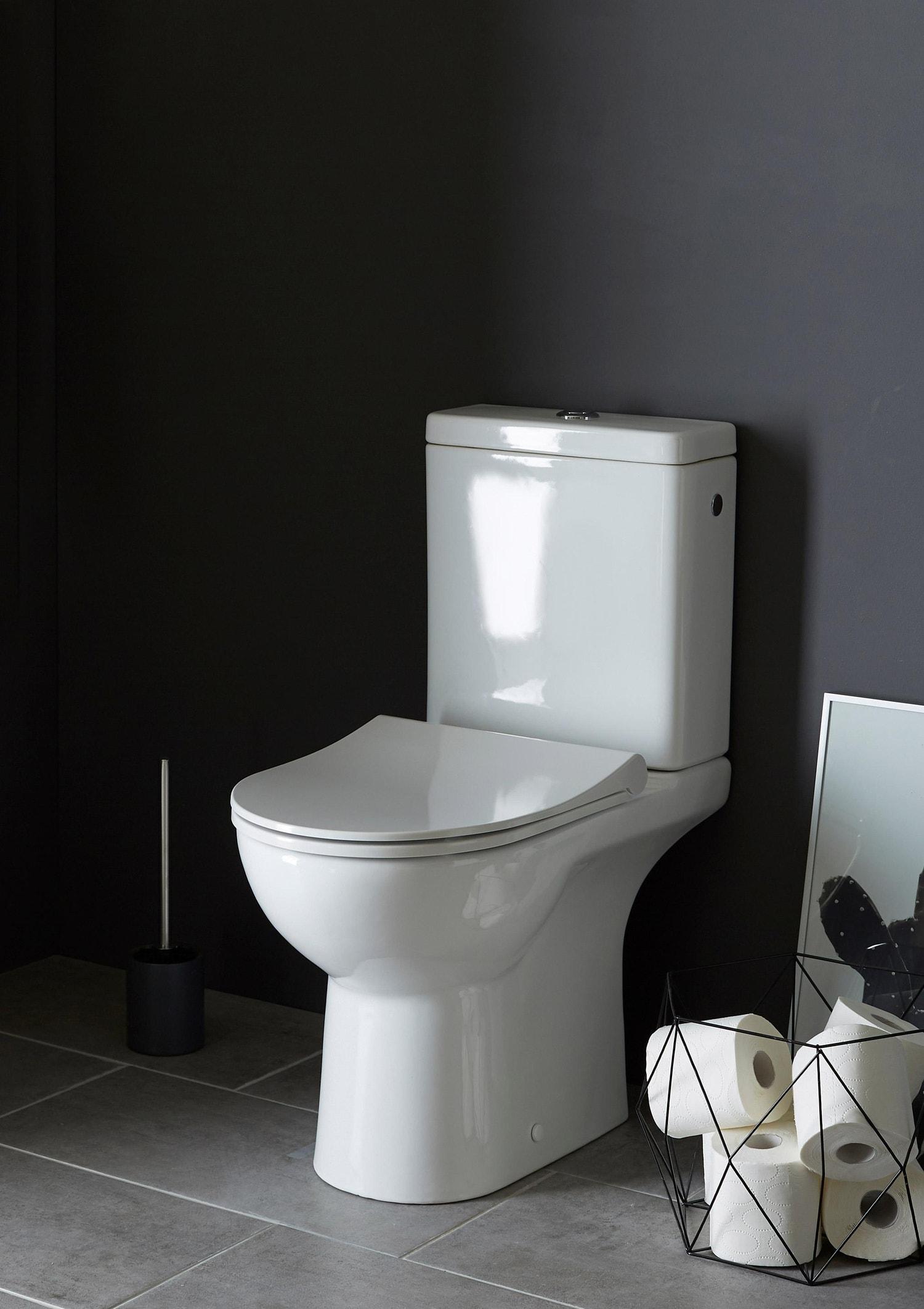 Toilette Gain De Place pack wc à poser sortie double, sans bride modulo, sensea