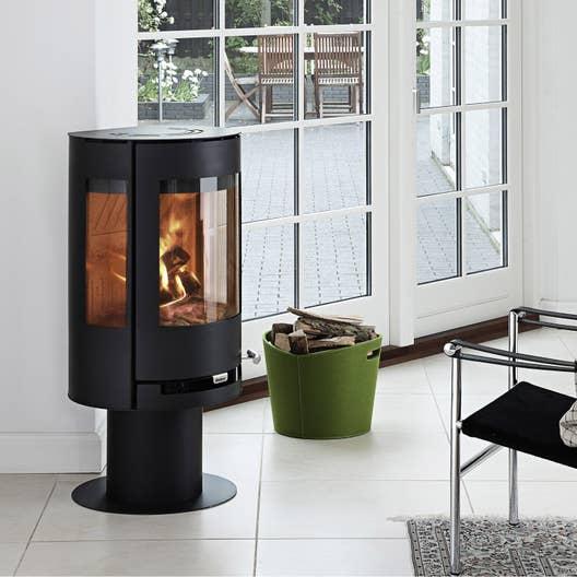 po le bois aduro 9 3 noir 6 kw leroy merlin. Black Bedroom Furniture Sets. Home Design Ideas