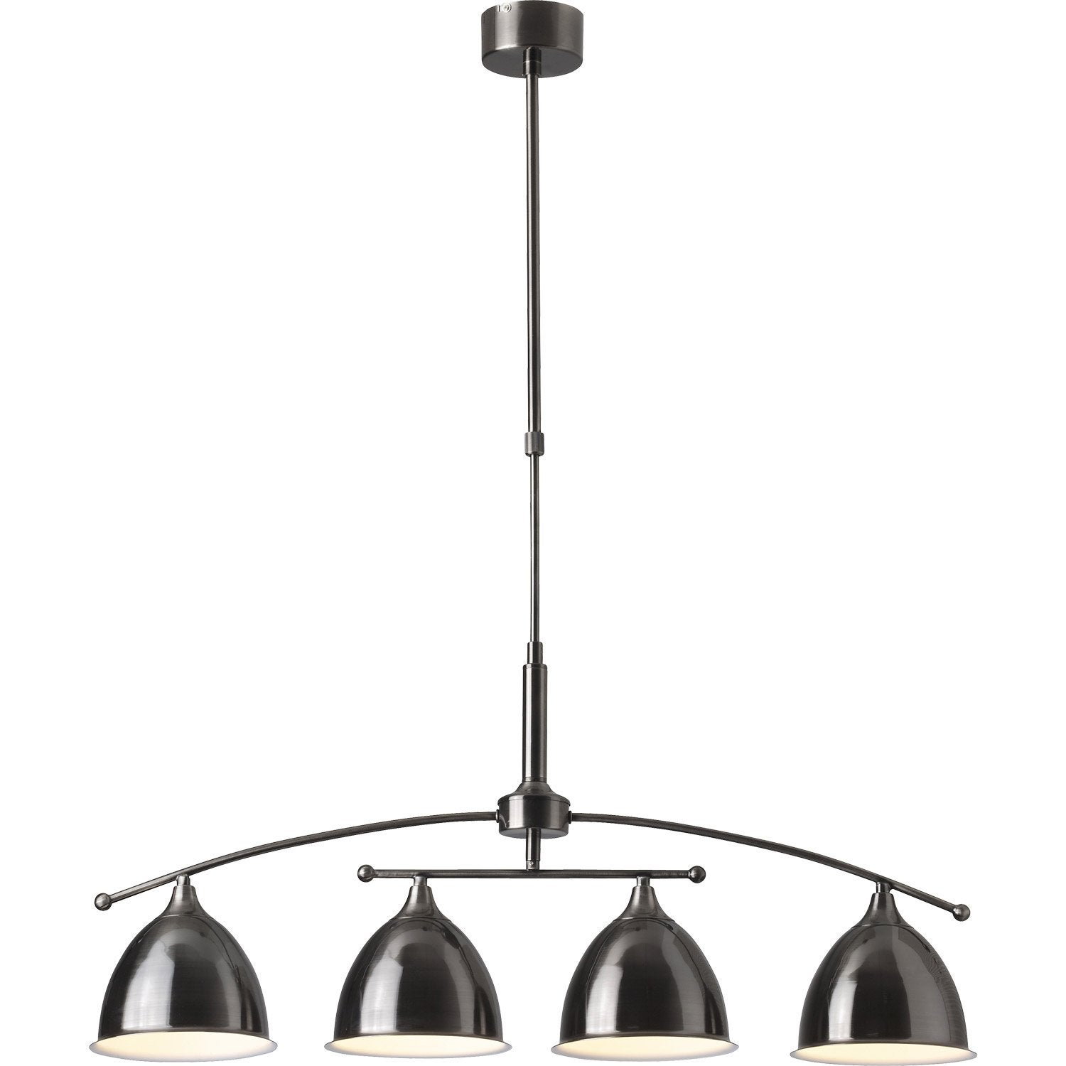 suspension e14 style industriel enzio mtal tain 4 x 40 w brilliant - Suspension Luminaire Style Industriel