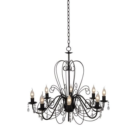 Lustre baroque ravenna m tal rouille 8 x 40 w lucide - Lustre leroy merlin decoration ...
