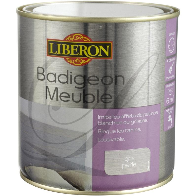 Lasure Mat Liberon Badigeon Meuble Gris Perle 0 5 L
