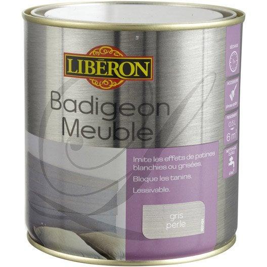 lasure mat liberon badigeon meuble gris perle 0 5 l leroy merlin. Black Bedroom Furniture Sets. Home Design Ideas