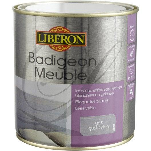 lasure mat liberon badigeon meuble gris gustavien 0 5 l leroy merlin. Black Bedroom Furniture Sets. Home Design Ideas