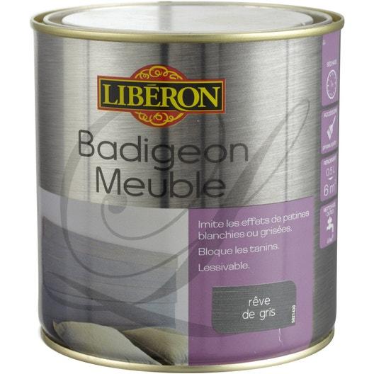 Lasure mat liberon badigeon meuble r ve de gris 0 5 l leroy merlin - Badigeon meuble liberon ...