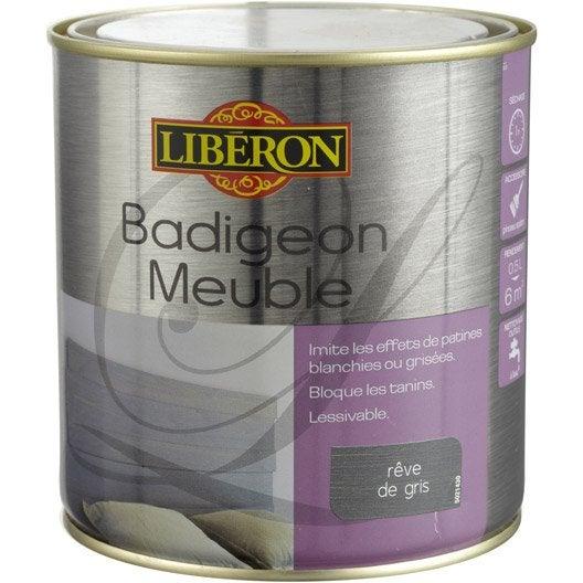 lasure badigeon meuble mat liberon r ve de gris 0 5 l leroy merlin. Black Bedroom Furniture Sets. Home Design Ideas