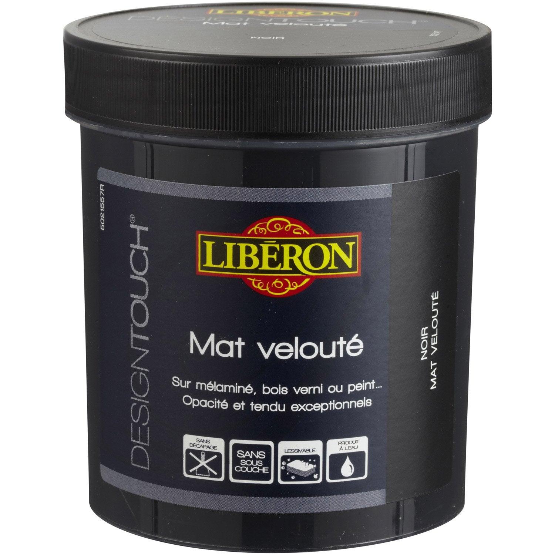 Peinture Effet Mat Liberon Design Touch Noir 0 5 L Leroy  # Meuble Peint En Noir