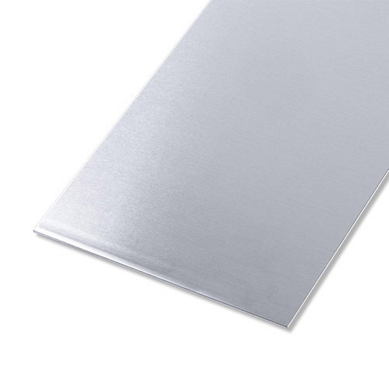 Tôle Aluminium Lisse Brut Gris L25 X L50 Cm Ep15 Mm